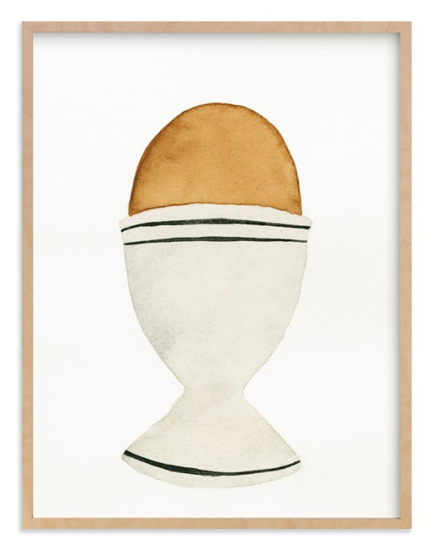 """""""The Humble Egg"""" - Limited Edition Art Print by Monica Loos in beautiful frame options and a variety of sizes."""