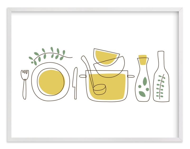 """""""Cooking With Spices and Herbs"""" - Limited Edition Art Print by Anais Lee in beautiful frame options and a variety of sizes."""