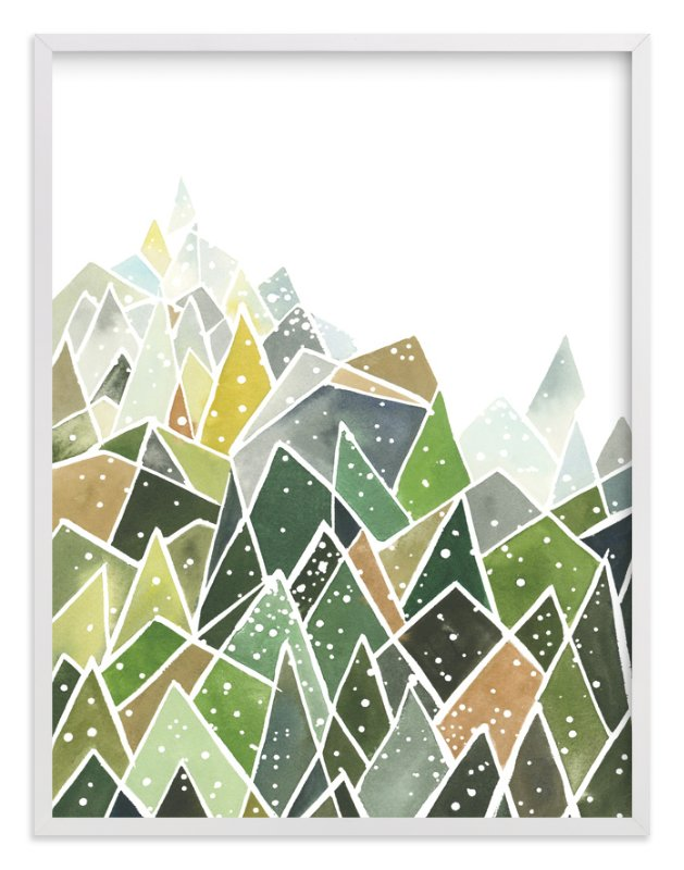 """Landscape of Triangles and Dots"" - Limited Edition Art Print by Yao Cheng Design in beautiful frame options and a variety of sizes."