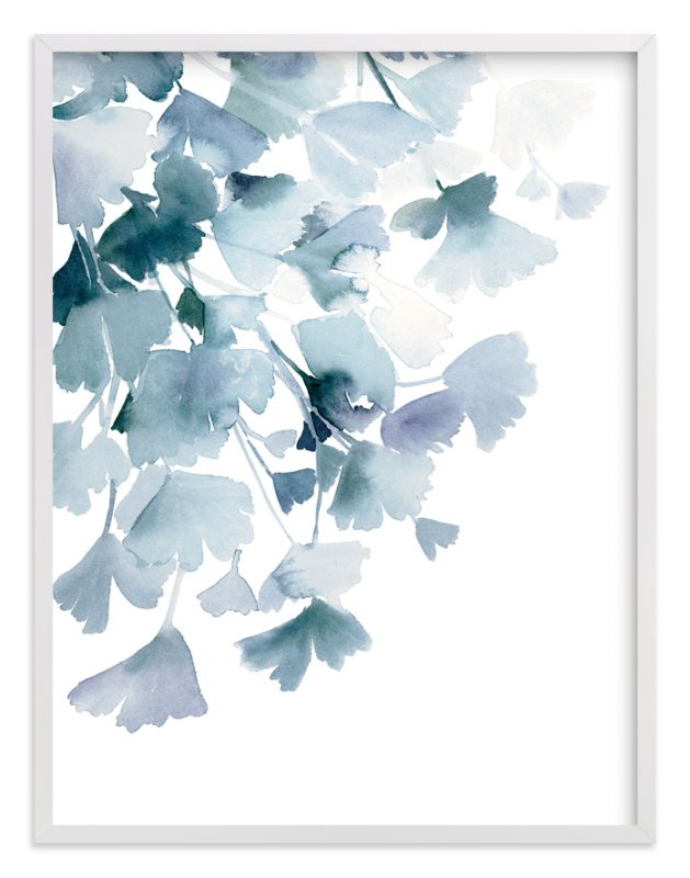 Blue Ginkgo Wall Art Prints By Yao Cheng Design Minted