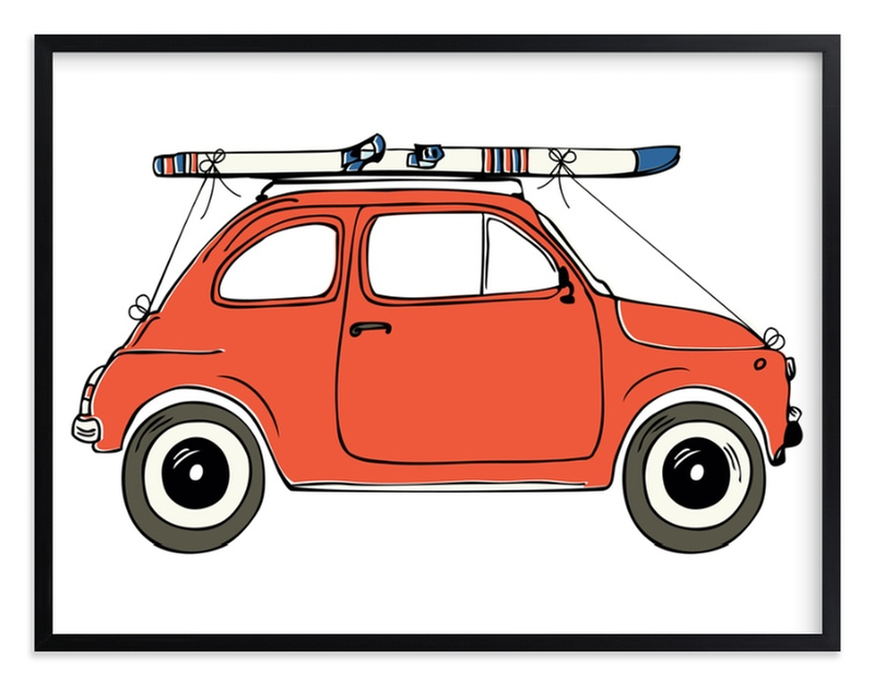 """To the Ski Slopes"" - Limited Edition Art Print by Alston Wise in beautiful frame options and a variety of sizes."