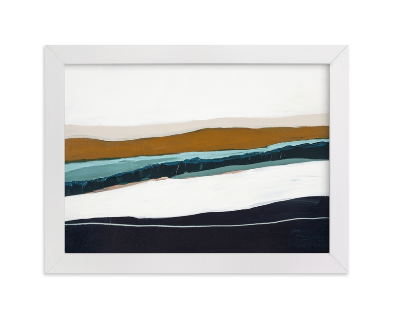 """""""Moonlight Seascape"""" - Limited Edition Art Print by Caryn Owen in beautiful frame options and a variety of sizes."""