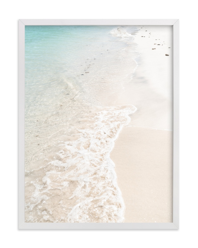 """""""Turquoise Tide"""" - Limited Edition Art Print by Kamala Nahas in beautiful frame options and a variety of sizes."""