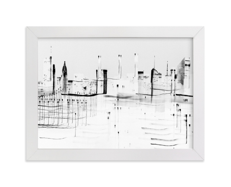 """""""nyc night lights """" - Limited Edition Art Print by Kaitlin Rebesco in beautiful frame options and a variety of sizes."""