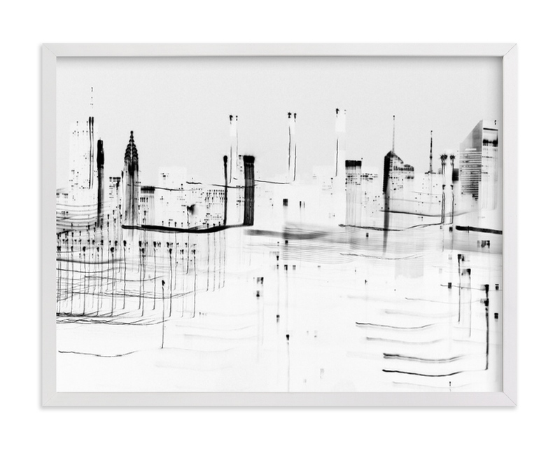 """nyc night lights "" - Limited Edition Art Print by Kaitlin Rebesco in beautiful frame options and a variety of sizes."