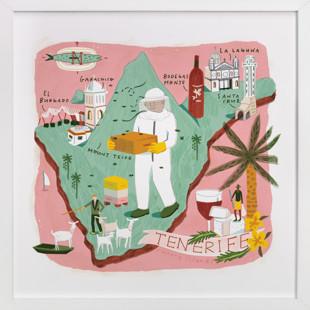 Tenerife Map Art Print