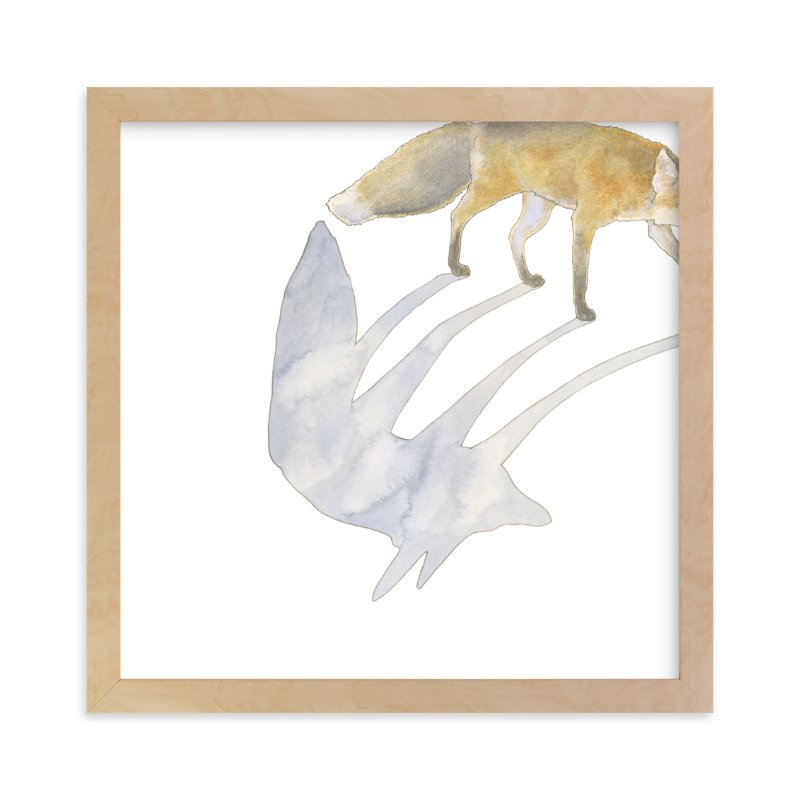 """Fox Shadow"" - Limited Edition Art Print by Natalie Groves in beautiful frame options and a variety of sizes."
