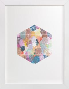 diamond palette Art Print