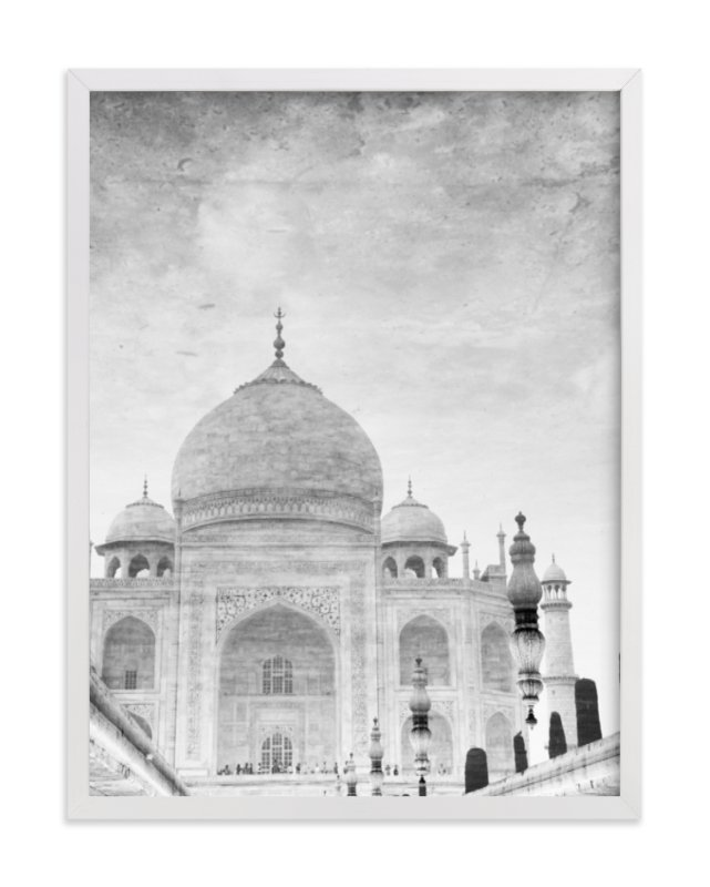 """Reflection of the Taj Mahal"" - Limited Edition Art Print by Heather Marie in beautiful frame options and a variety of sizes."