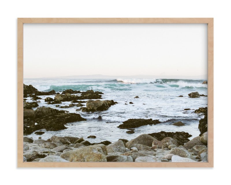 """""""Rocky Coast"""" - Limited Edition Art Print by Janel Galvez in beautiful frame options and a variety of sizes."""