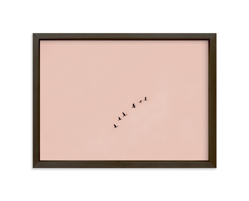 """Birds in Flight"" - Limited Edition Art Print by Kaitie Bryant in beautiful frame options and a variety of sizes."