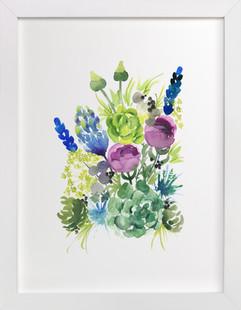 Wild Succulent Art Print
