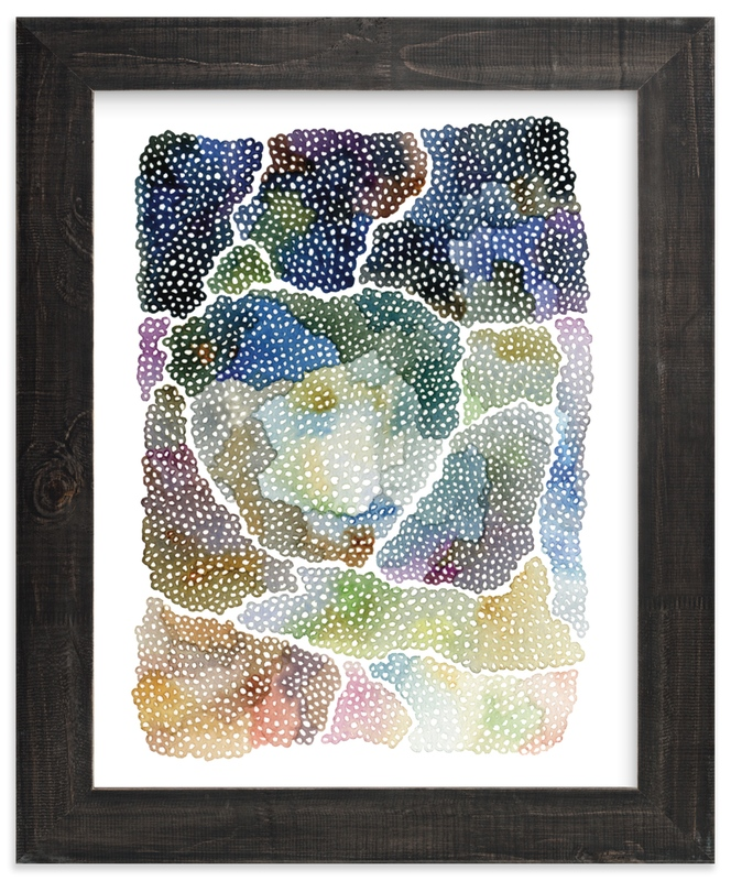 """freckle topography"" - Limited Edition Art Print by Kelly Place in beautiful frame options and a variety of sizes."