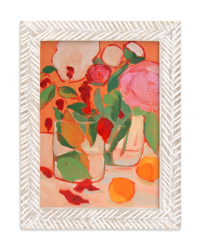 """""""Orange Flirt"""" - Limited Edition Art Print by Lynne Millar in beautiful frame options and a variety of sizes."""