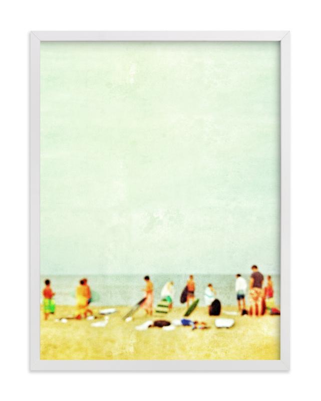 On the beach. Art Print