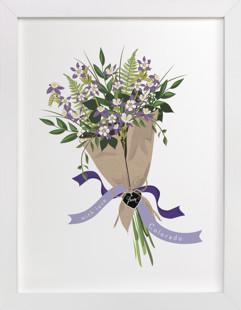 Colorado Blue Columbine Bouquet Art Print