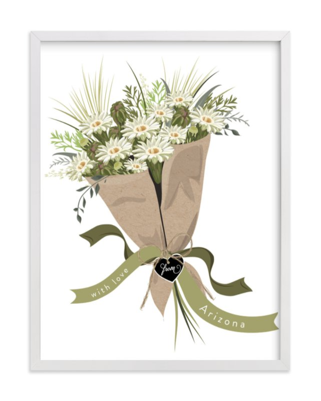 This is a ivory art by Susan Moyal called Arizona Saguaro Bouquet.