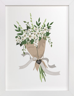 Missouri Hawthorn Bouquet Art Print