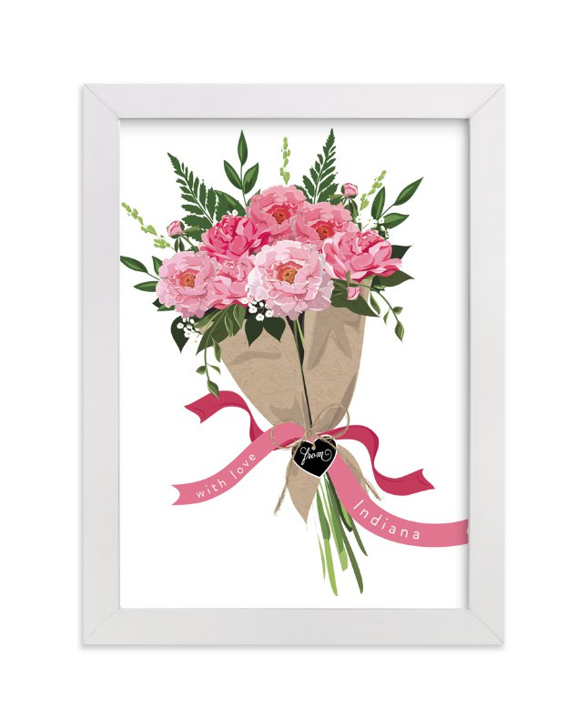 """""""Indiana Peony Bouquet"""" - Limited Edition Art Print by Susan Moyal in beautiful frame options and a variety of sizes."""