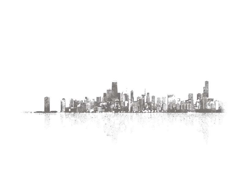 Chicago Skyline Wall Art Prints by Paul Berthelot | Minted