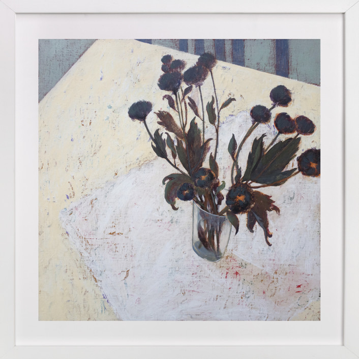 Still life with Crysanthemums Art Print