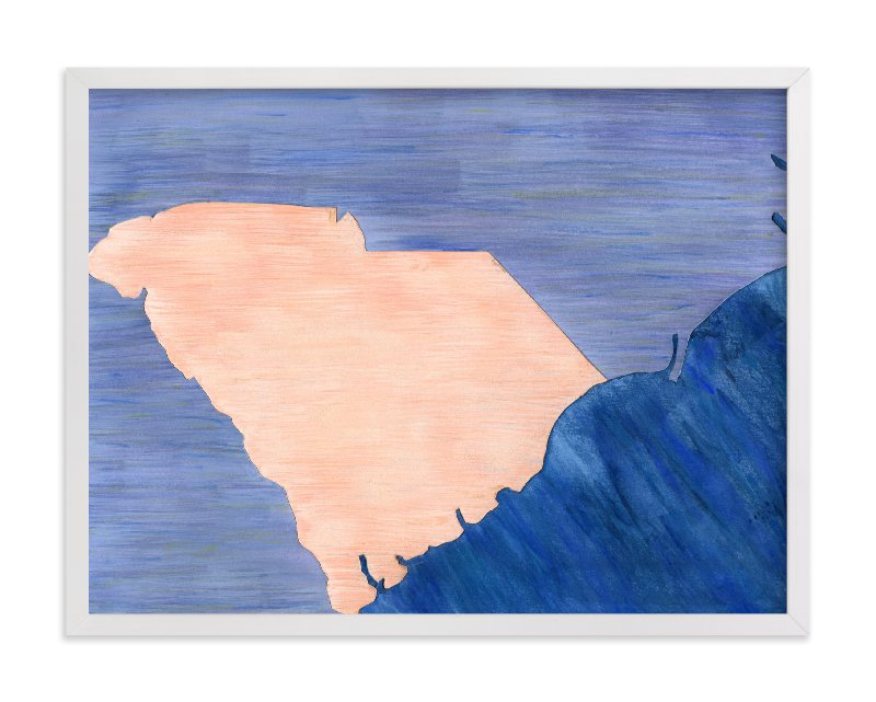 This is a blue art by Denise Wong called South Carolina in Paint.