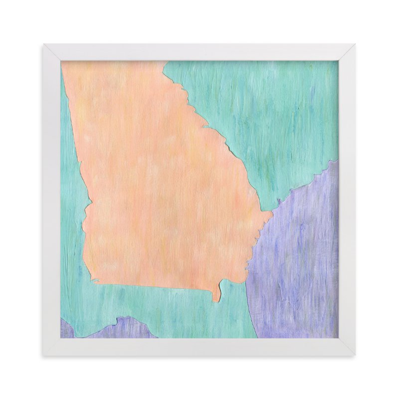 """""""Georgia in Paint"""" - Limited Edition Art Print by Denise Wong in beautiful frame options and a variety of sizes."""