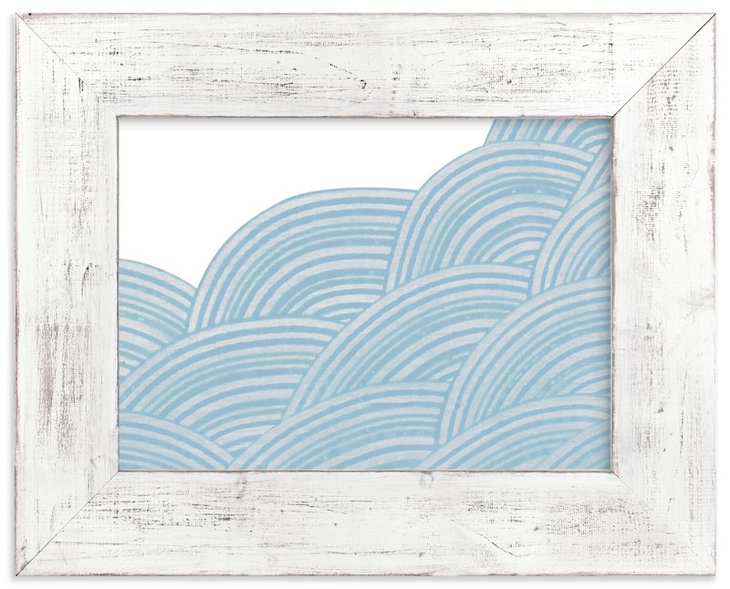 """""""Geometric Tides"""" - Limited Edition Art Print by King Richard IX in beautiful frame options and a variety of sizes."""