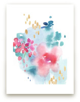 Abstract Flora I by Julie Song Ink