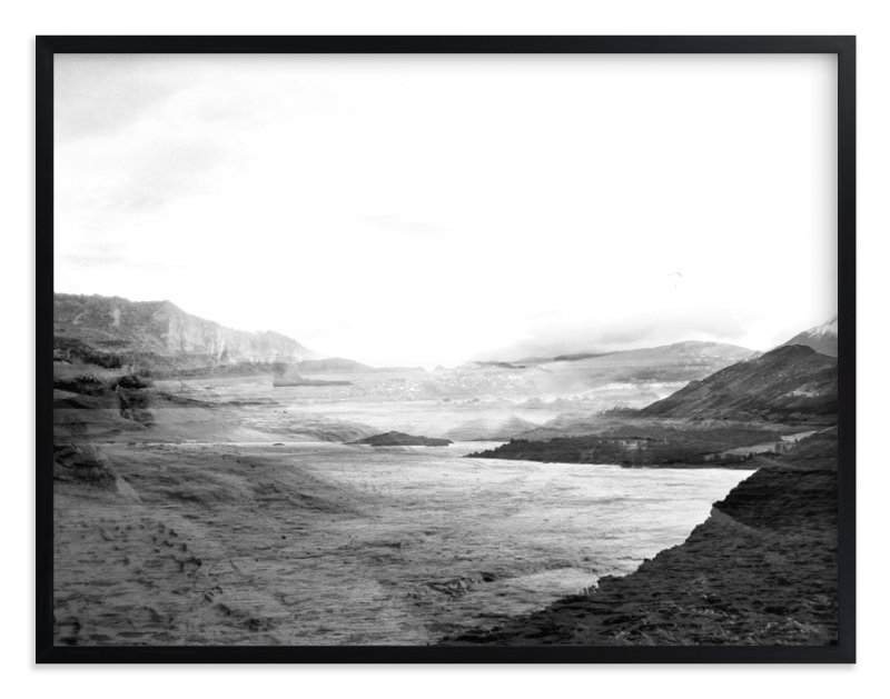 """""""Stormy Bay"""" - Limited Edition Art Print by Bethan in beautiful frame options and a variety of sizes."""