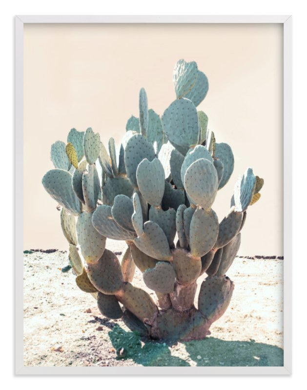 """Blue Cactus"" - Limited Edition Art Print by Wilder California in beautiful frame options and a variety of sizes."