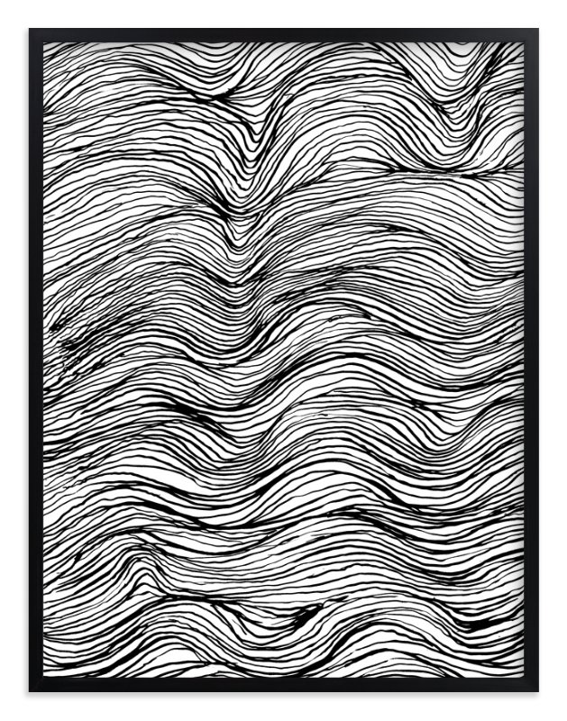 """Ebb and Flow Ink Lines"" - Limited Edition Art Print by Elliot Stokes in beautiful frame options and a variety of sizes."