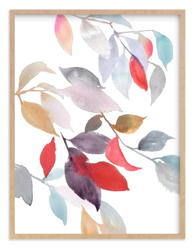 """Foliage"" - Limited Edition Art Print by Julie Song Ink in beautiful frame options and a variety of sizes."