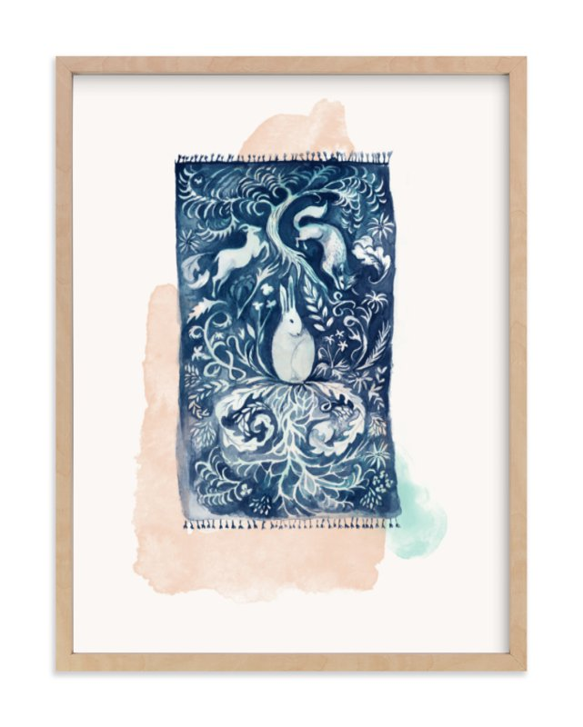 """""""Dream Rug"""" - Limited Edition Art Print by Zoe Pappenheimer in beautiful frame options and a variety of sizes."""