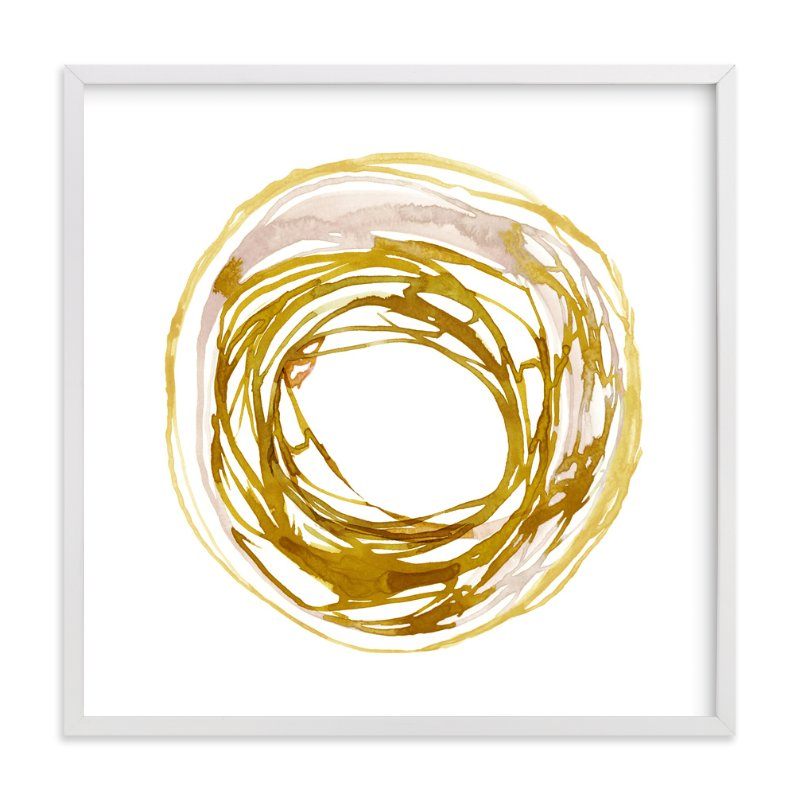 This is a yellow art by Kelly Ventura called Soma with standard.
