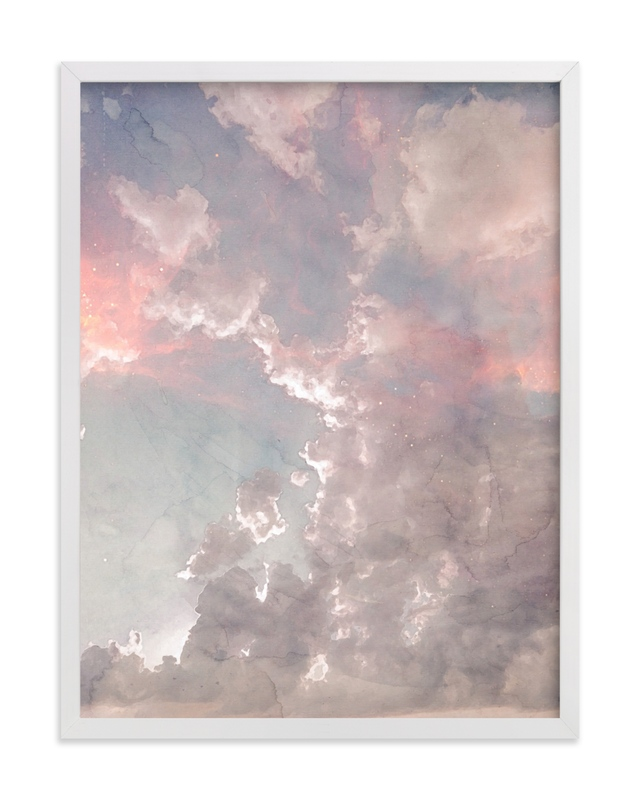 This is a blue art by EMANUELA CARRATONI called Candy Sky.