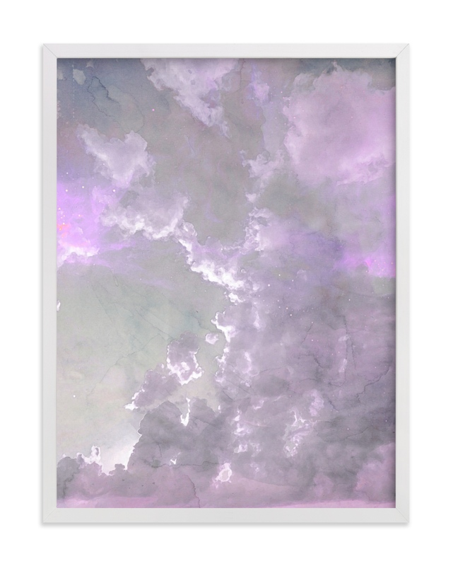 This is a purple art by EMANUELA CARRATONI called Candy Sky.