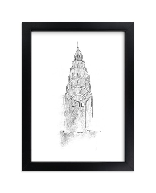 """""""Crown of Chrysler building"""" - Limited Edition Art Print by van tsao in beautiful frame options and a variety of sizes."""