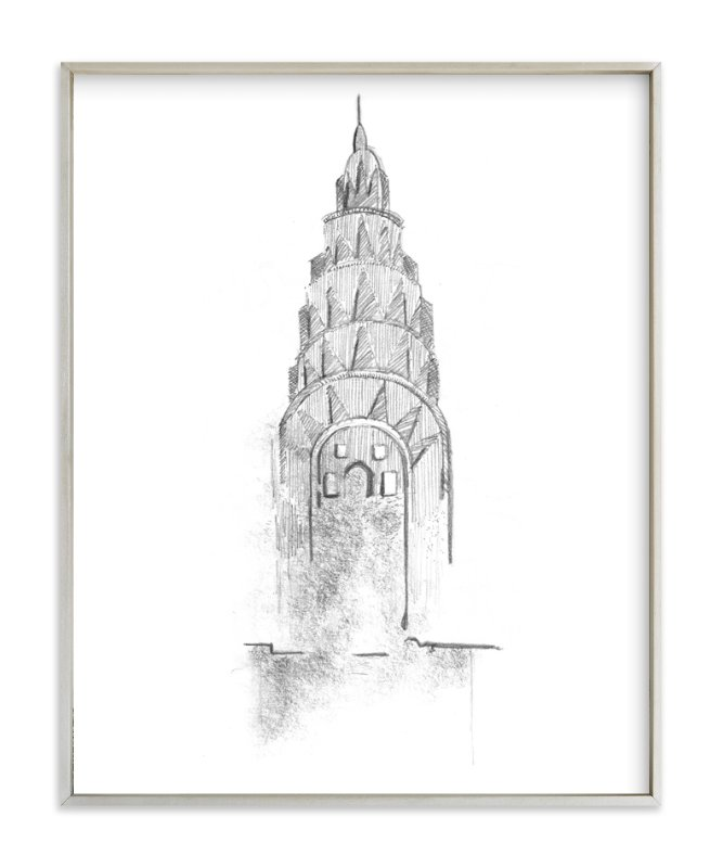 crown of chrysler building wall art prints by van tsao