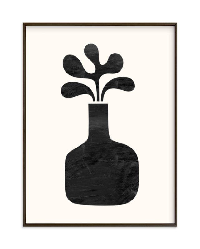 """Modern Vase #1"" - Limited Edition Art Print by Field and Sky in beautiful frame options and a variety of sizes."