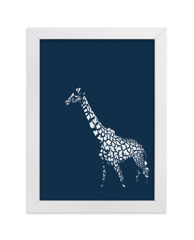 """""""fading giraffe"""" - Limited Edition Art Print by Erin Niehenke in beautiful frame options and a variety of sizes."""