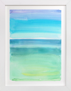 Emerald Green And Blue Abstract Art Print