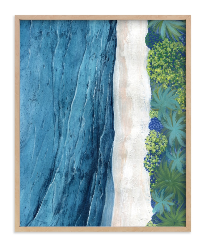 """""""Indigo Sea"""" - Limited Edition Art Print by Denise Wong in beautiful frame options and a variety of sizes."""