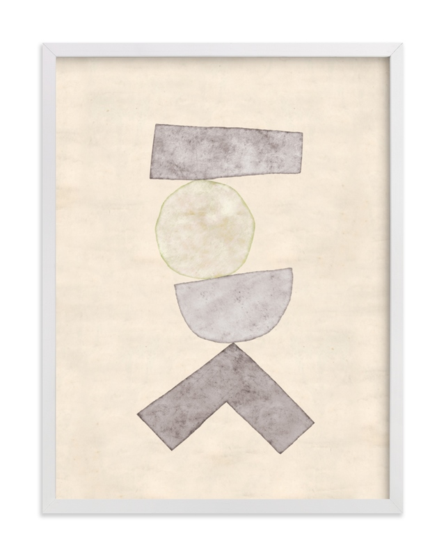 This is a grey art by Kara Kosaka called Tipping Point.