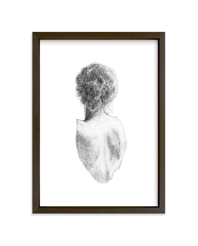 """""""Figure Drawing No.17"""" - Limited Edition Art Print by Jess Blazejewski in beautiful frame options and a variety of sizes."""
