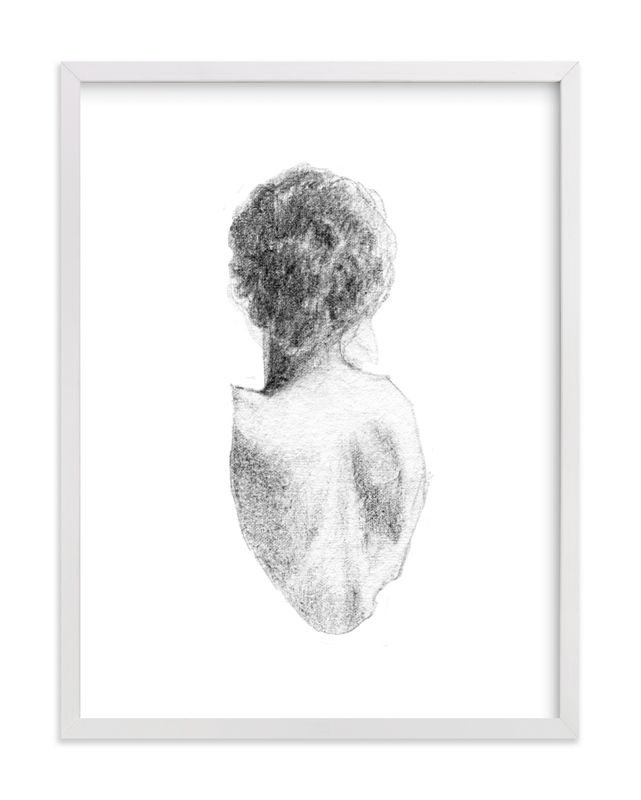 This is a black and white art by Jess Blazejewski called Figure Drawing No.17.