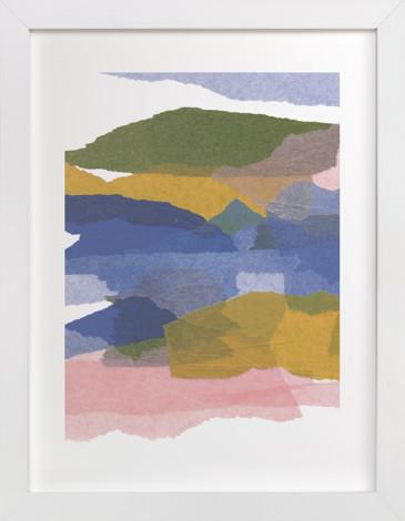 mountain sunset two Art Print