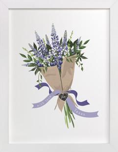 Texas Bluebonnet Bouquet Art Print
