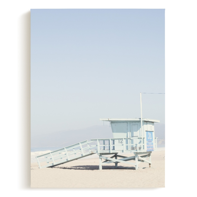 The Pastel Blue Lifeguard House Art Print