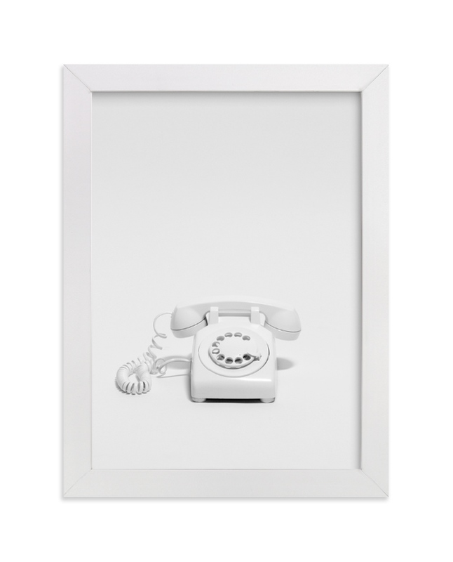"""""""Telephone"""" - Limited Edition Art Print by Cristiane in beautiful frame options and a variety of sizes."""
